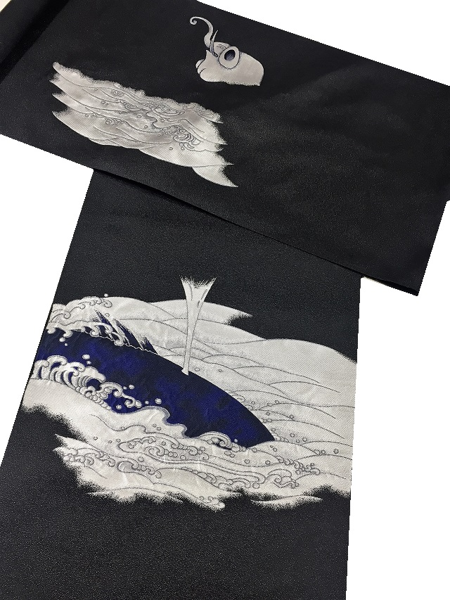 西陣まいづる 帯 若冲 象鯨屏風図
