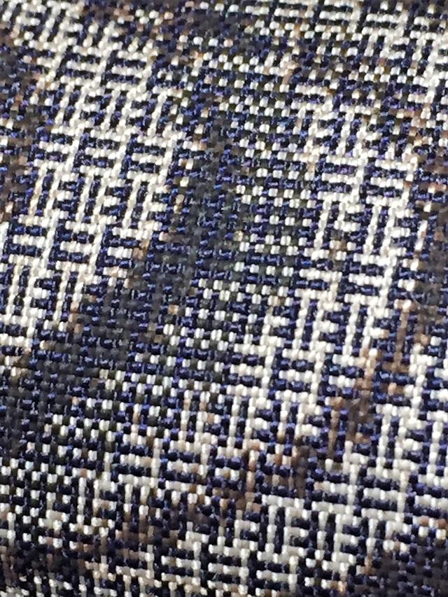 割り込み式絣 大島紬 観世水