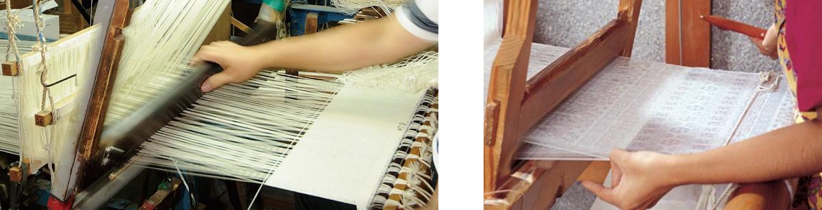 大島紬 機織り