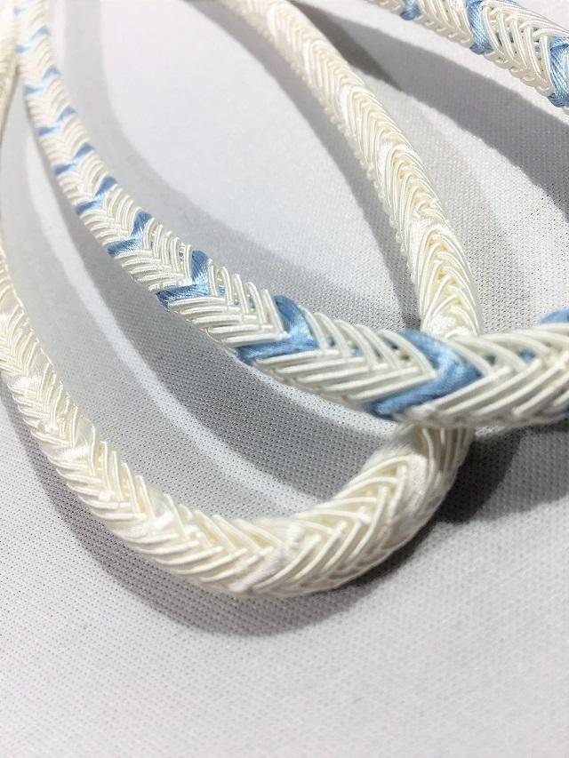 夏帯締め 丸組 白