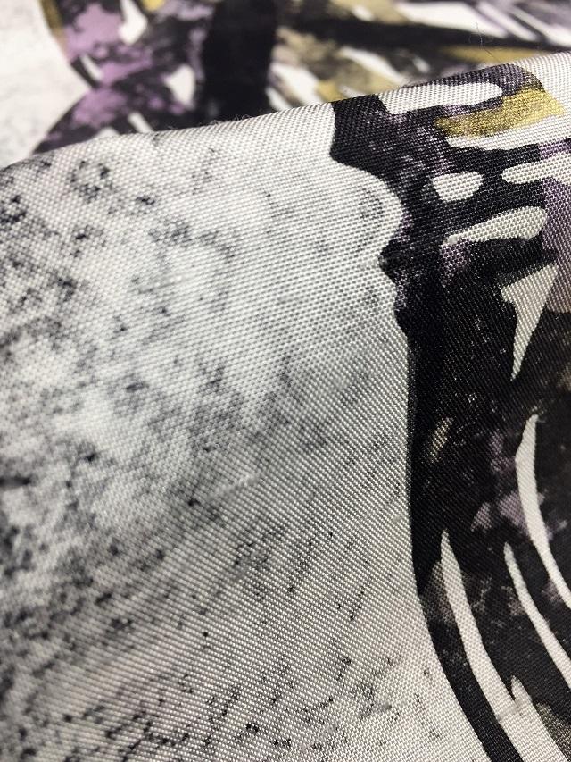 牛首紬 袋帯 ローケツ染め