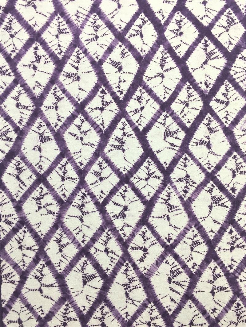 紫根染め 絞り 九寸名古屋帯