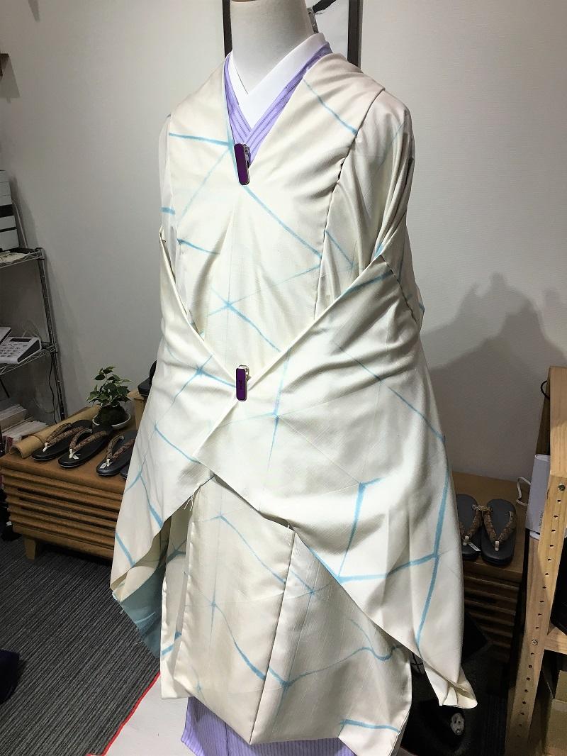 結城紬コート
