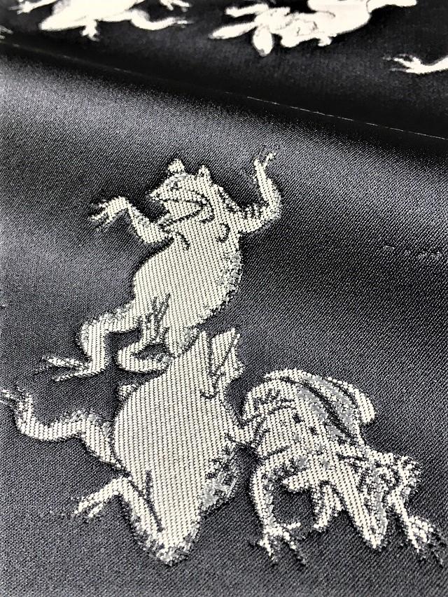 となみ織物 鳥獣戯画