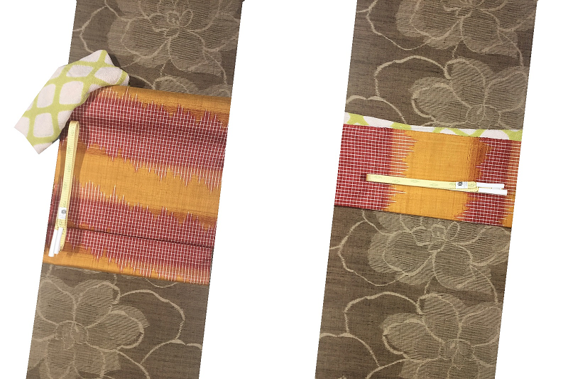 着物コーディネート 紬帯コーディネート